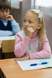 Thoughtful pupils Stock Photo