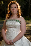 Thoughtful Redheaded Bride Stock Photography