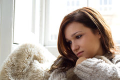 Thoughtful reflection Stock Photo