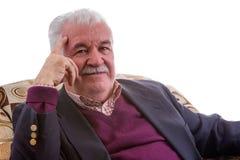 Thoughtful retired elderly gentleman Stock Photography