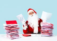 Thoughtful Santa Royalty Free Stock Images