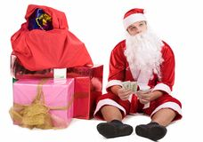 Thoughtful Santa Royalty Free Stock Image