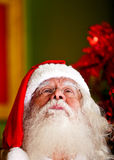 Thoughtful Santa Claus Royalty Free Stock Photography