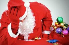 Thoughtful Santa Claus Royalty Free Stock Photos