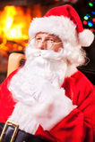 Thoughtful Santa. Royalty Free Stock Photo
