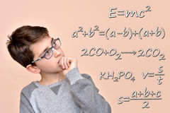 Thoughtful schoolboy Royalty Free Stock Image