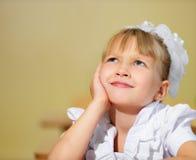 Thoughtful schoolchild Royalty Free Stock Photography