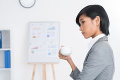Thoughtful secretary Stock Images