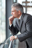 Thoughtful senior businessman Royalty Free Stock Images