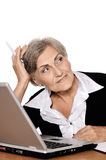 Thoughtful senior businesswoman Royalty Free Stock Photos
