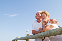 Thoughtful senior couple Royalty Free Stock Images