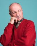 Thoughtful senior man Stock Images