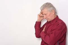 Thoughtful senior man Royalty Free Stock Photo