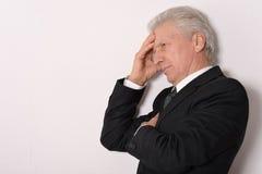 Thoughtful senior man Stock Image