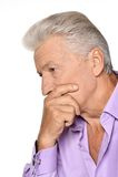 Thoughtful senior man Stock Photos