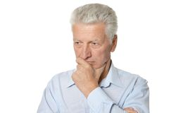 Thoughtful senior man Royalty Free Stock Photography