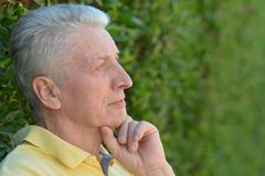 Thoughtful senior man Royalty Free Stock Photos