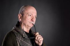 Thoughtful senior man Royalty Free Stock Images