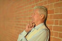 Thoughtful senior man Royalty Free Stock Image
