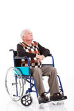 Thoughtful senior wheelchair Royalty Free Stock Image