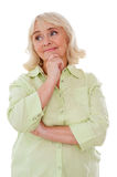 Thoughtful senior woman. royalty free stock photography