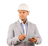 Thoughtful serious architect or engineer Royalty Free Stock Image