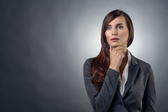 Thoughtful serious businesswoman Royalty Free Stock Photos