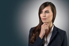 Thoughtful serious businesswoman Royalty Free Stock Image