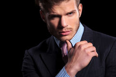 Free Thoughtful Serious Young Business Man Royalty Free Stock Photography - 34565457