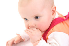Thoughtful sight of the small child Royalty Free Stock Image