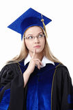 Thoughtful student Royalty Free Stock Photos