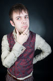 Thoughtful stylish man in vest Stock Photography