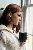 Thoughtful tea break Stock Images