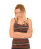 Thoughtful teen girl Stock Photography