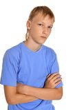 Thoughtful teenage boy Royalty Free Stock Photo
