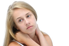 Thoughtful teenage girl Royalty Free Stock Photo