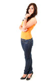 Thoughtful teenage girl, full length Royalty Free Stock Photo