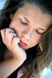 Thoughtful teenager Stock Images