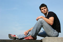 Thoughtful Teenager Royalty Free Stock Images