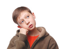 Thoughtful teenager Royalty Free Stock Image
