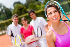 Thoughtful tennis player Royalty Free Stock Image
