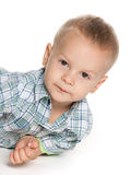 Thoughtful toddler boy Stock Image