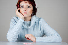 Thoughtful Woman Royalty Free Stock Images