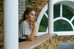 Thoughtful woman. Royalty Free Stock Photography