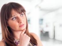 Thoughtful woman stock photos