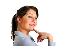 Thoughtful woman Stock Images
