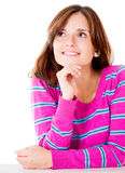 Thoughtful woman Royalty Free Stock Photo