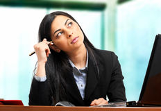 Thoughtful woman Stock Photography