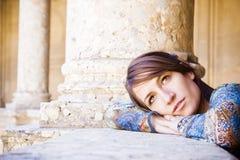 Thoughtful woman Stock Photo