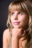 Thoughtful woman portrait Stock Photography